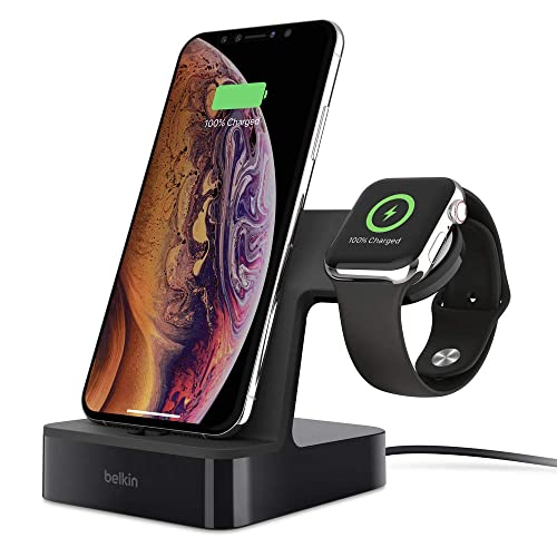 Belkin PowerHouse Base de Carga Para Apple Watch 4 y IPhone XS XS Max XR Negro