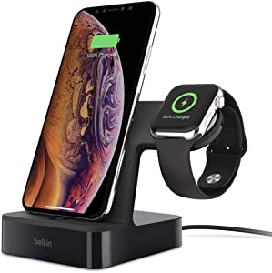 Belkin PowerHouse Charge Dock for Apple Watch + iPhone (iPhone Charging Dock for iPhone 11, 11 Pro/Pro Max, XS, XS Max, XR, X, SE, 8/8 Plus and More, Apple Watch Series 5, 4, 3, 2, 1), Black