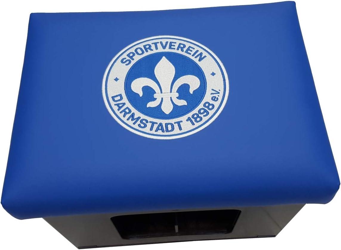 SV Darmstadt 98 Bierkastenaufsatz Kissen Bierkiste Tisch Fanartikel Bierkasten Stehtisch Sitzkissen Tischaufsatz Hocker Bistrotisch Partytisch