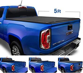Fleetside 5 Bed Tyger Auto T1 Roll Up Truck Tonneau Cover TG-BC1C9001 Works with 2004-2012 Chevy Colorado//GMC Canyon 2006-2008 Isuzu I350