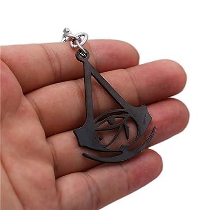 Amazon.com : Key Chains Men Assassins Creed Black Flag Metal ...
