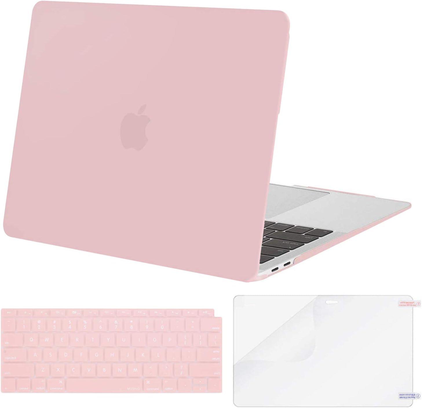 Funda y protector de teclado MOSISO para MacBook Air 13 Rosa