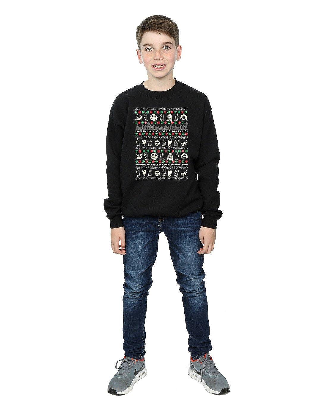 Disney Boys Nightmare Before Christmas Festive Icons Sweatshirt
