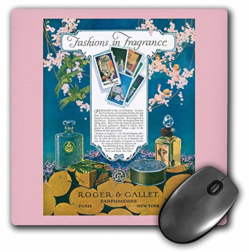 Gallet Perfumes Fragrance - 3dRose BLN Vintage Perfume Toiletry Labels and Posters - Fashions in Fragrance Roger and Gallet Paris New York - MousePad (mp_169748_1)