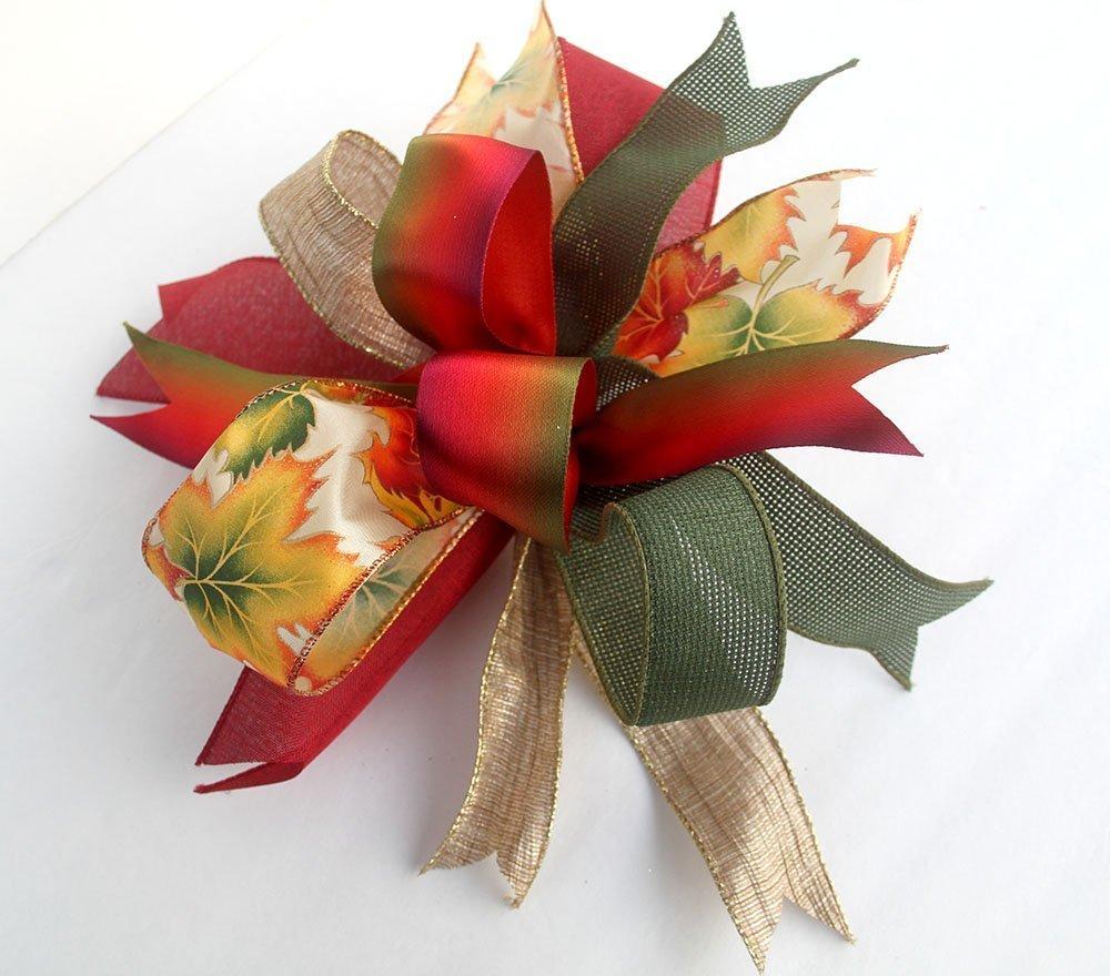 Autumn bow for wreaths and lanterns, fallbur decorations