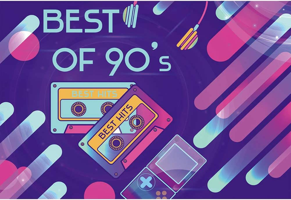 Amazon Com Baocicco 9x6ft Back To 90s Backdrop Best Of 90s Backdrop For Photography Cartoon Tapes Phone Headset Grunge Style Hip Hop 90s Party Theme Birthday Party Kids Adults Artistic Portrait Props