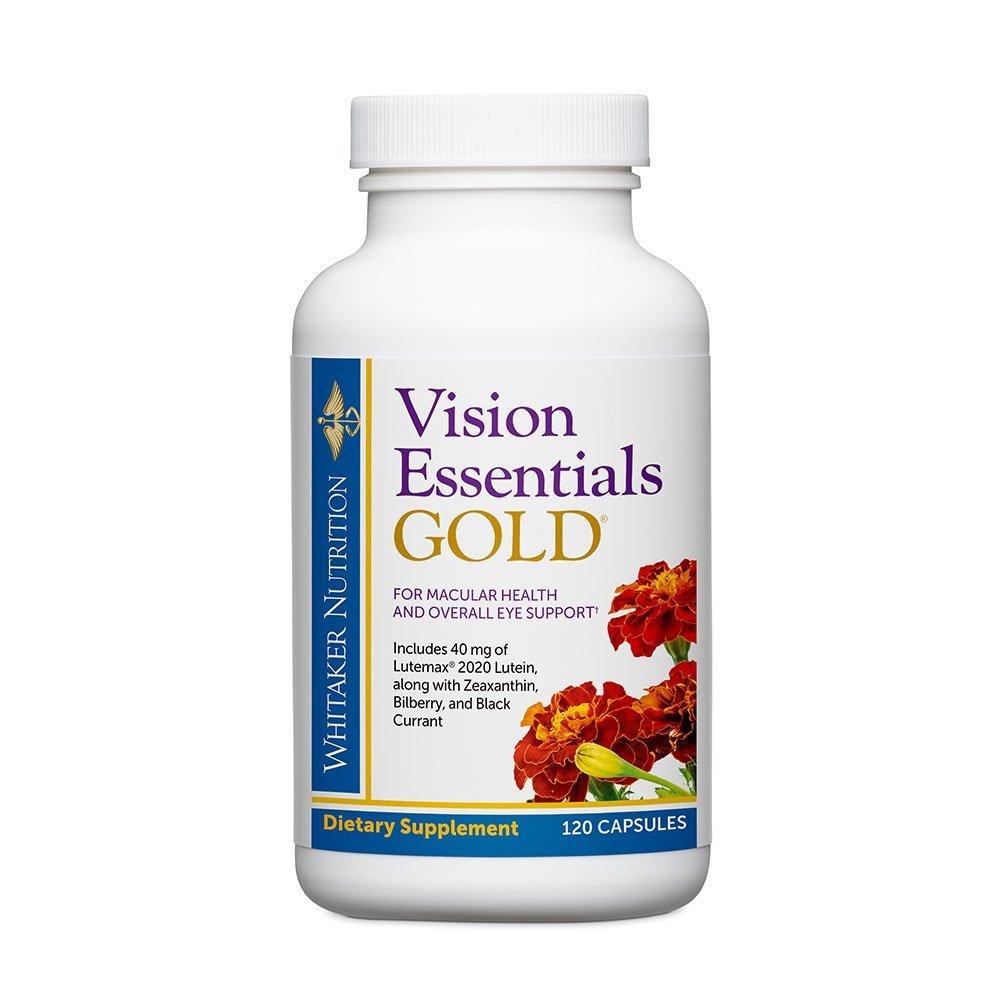 Dr. Whitaker's Vision Essentials Gold - Eye Health Supplement with 40 mg of Lutein Plus Vitamin A & Zeaxanthin - Supports Macular Health and Shields Eyes Against Blue Light Exposure (120 Capsules) by Dr. Whitaker