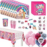 amscan JoJo Siwa Kids Birthday Party Supplies 16 Guest Count