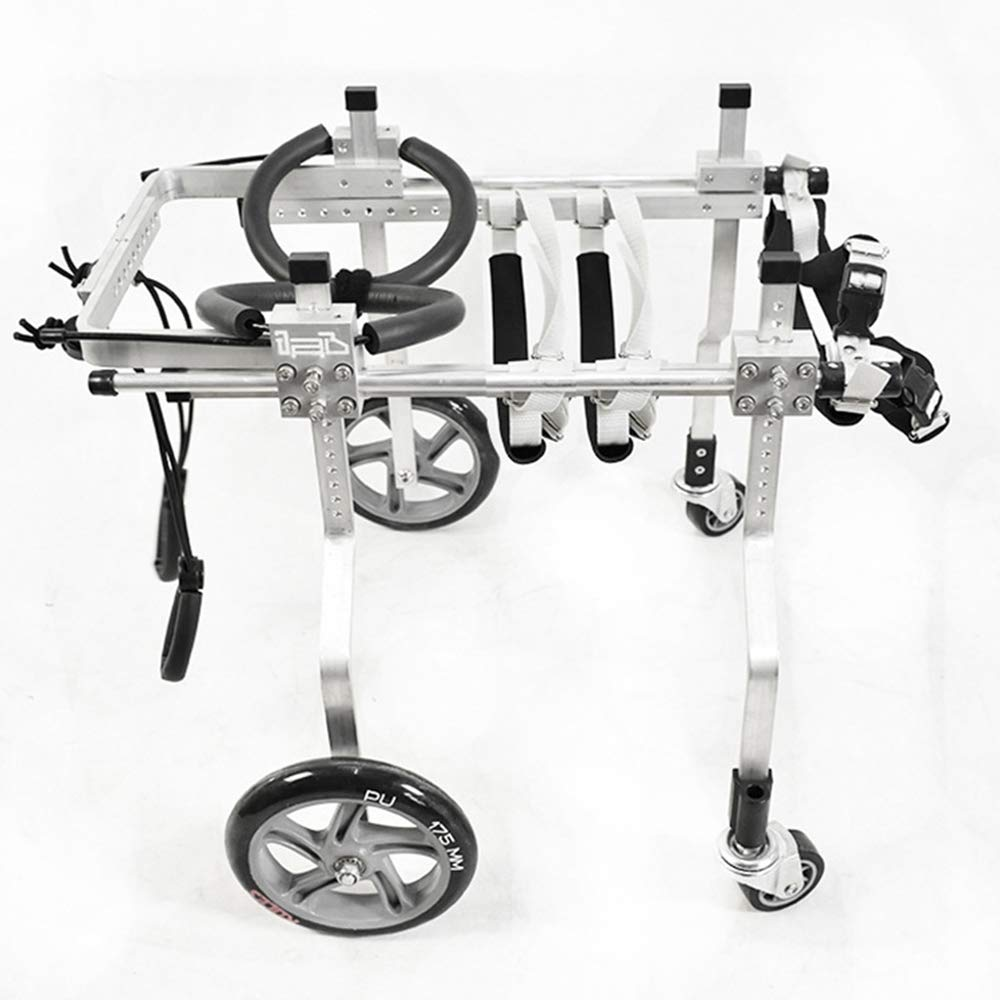 QETU Dog Wheelchair Cart, Four Wheel Pet Front/Hind Legs Rehabilitation, for Disabled Pets with Physical Strength Insufficient Limbs,XL