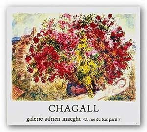 "Jardins De St Paul by Marc Chagall 16.25""x23.5"" Art Print Poster"