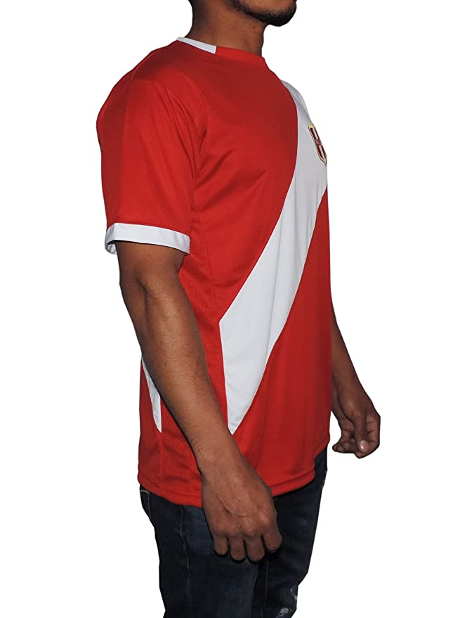 Amazon.com: Peru Soccer Jersey Replica For Men, White or Red. Russia World Cup 2018. Camisetas Seleccion Peruana de Futbol (X-Large, Red): Clothing