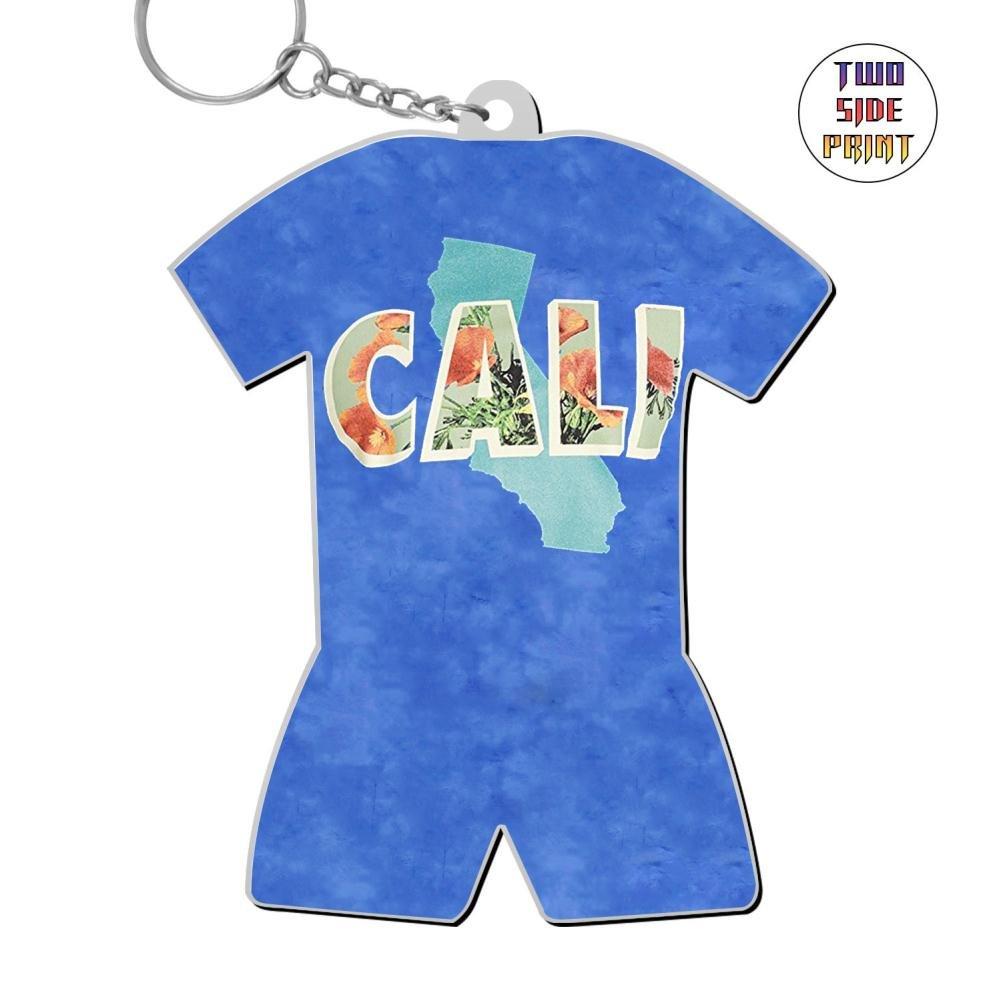 okkeyring Zinc Alloy Car Key Chain,Print Cali,Best Gift For Friends Boys Girls