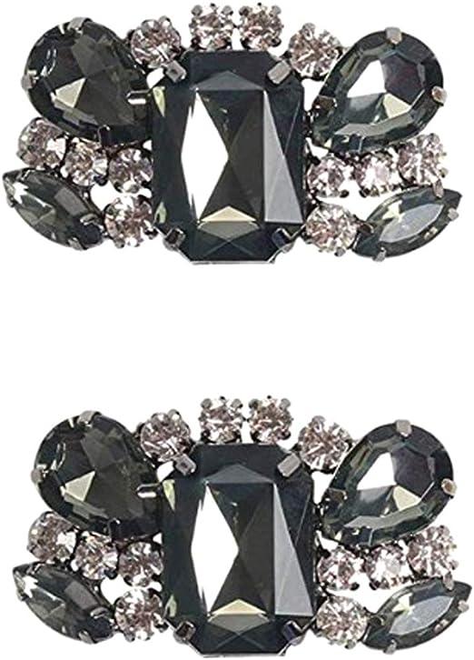 1 Paar DIY Strass Schuhclips Schmuck-Accessoires Dekor für Brautschuh High