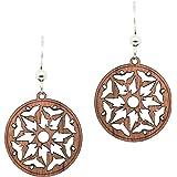 darbre Star Sustainably Sourced Maple Wood Earrings Wooden Earrings
