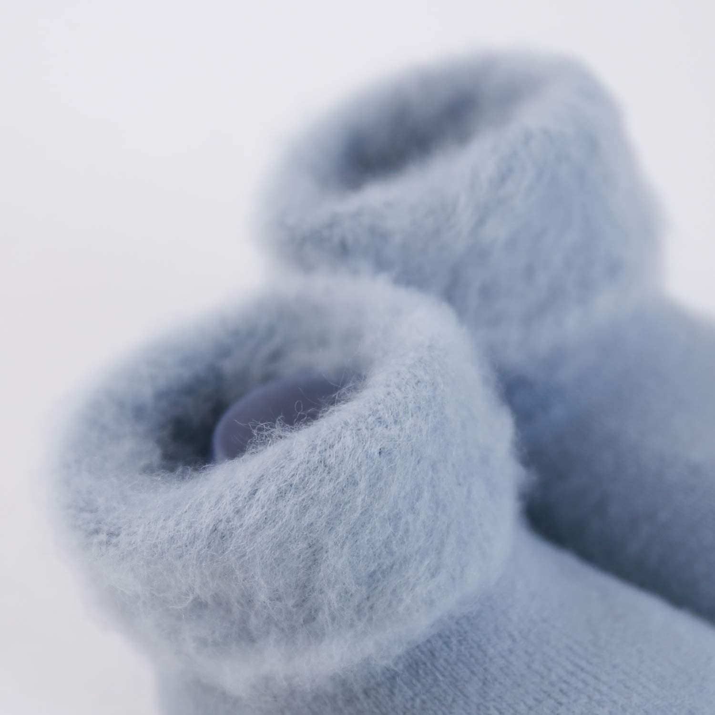 6-12 Months S SuYoYo Baby Non-skid Warm Winter Thick Fur Socks Toddler Boys Girls Socks , White