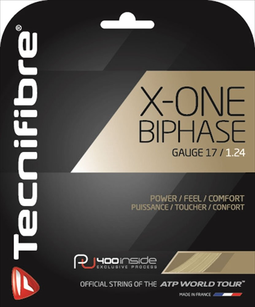 Tecnifibre X-One Biphase (17-1.24mm) String Set (Natural)