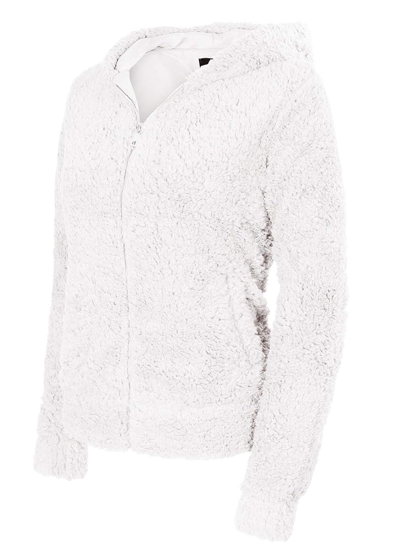 Ijkw050 Offwhite Instar Mode Women's Casual Warm Fluffy Faux Fur Oversized Outerwear Jacket Cardigan
