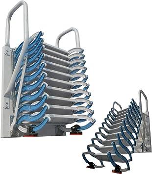 Escalera de ático de metal con barandillas Escalera de ático de aluminio de 2M-4M desplegable escalera plegable engrosada altura personalizable (B/M-3M,Acero): Amazon.es: Bricolaje y herramientas