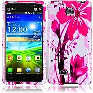 Compatible with LG Escape P870(AT&T) Design Cover - Pink Splash