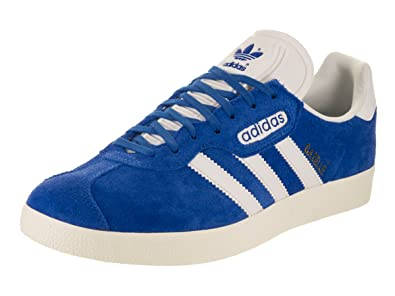 Adidas Men\u0027s Gazelle Super Originals Blue/Vinwht/Goldmt Casual Shoe 7.5 Men  US