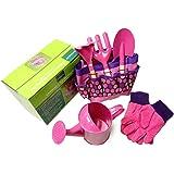 iBaste_S Children's Gardening Set Gardening Tools Kids Gardening Toys Garden Play Game Kits Gloves Vegetable, Flowers, Lawn Indoors