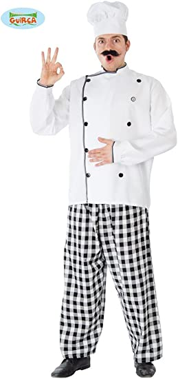 Guirca – Disfraz de cocinero chef Mens, talla única, 80393: Amazon ...