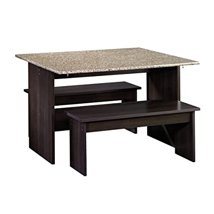 Sauder 413854 Table With Benches, 47u0026quot; L X 35.875u0026quot; W X 29u0026quot;