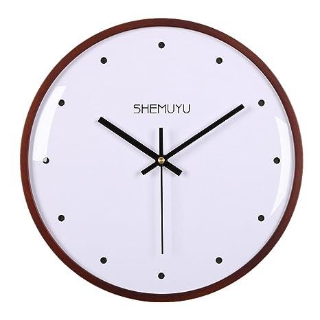 Lommer Reloj de Pared (Madera, 30 cm/12zoll según los Marco de Madera Reloj de Pared Cristal Cocina ...
