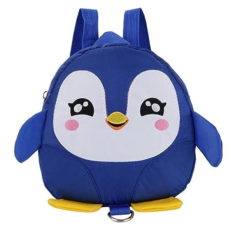 Fossrn Mochilas Niños Niña Pingüino Animales Mochilas Colegio Mochilas para Guarderia Primaria infantiles del 2-6 años (Azul): Amazon.es: Equipaje