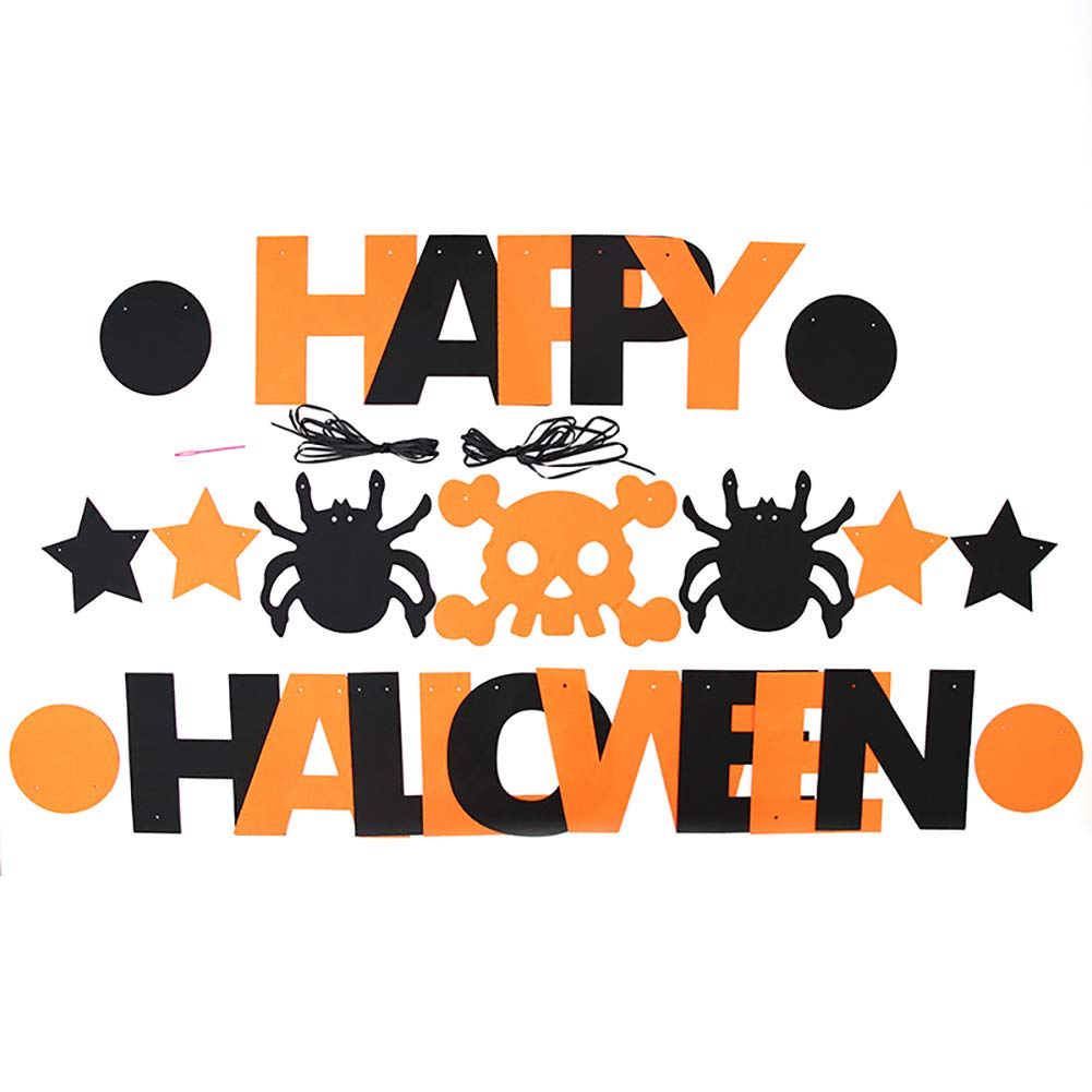 Cotowin Halloween Bunting Banners Hanging Flags