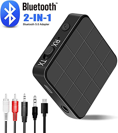 Trasmettitore Ricevitore 2-in-1 Bluetooth V4.2 3.5 mm Stereo Music Cavo Audio Adattatore Portatile Dongle per TV Car Switch Speaker ECC