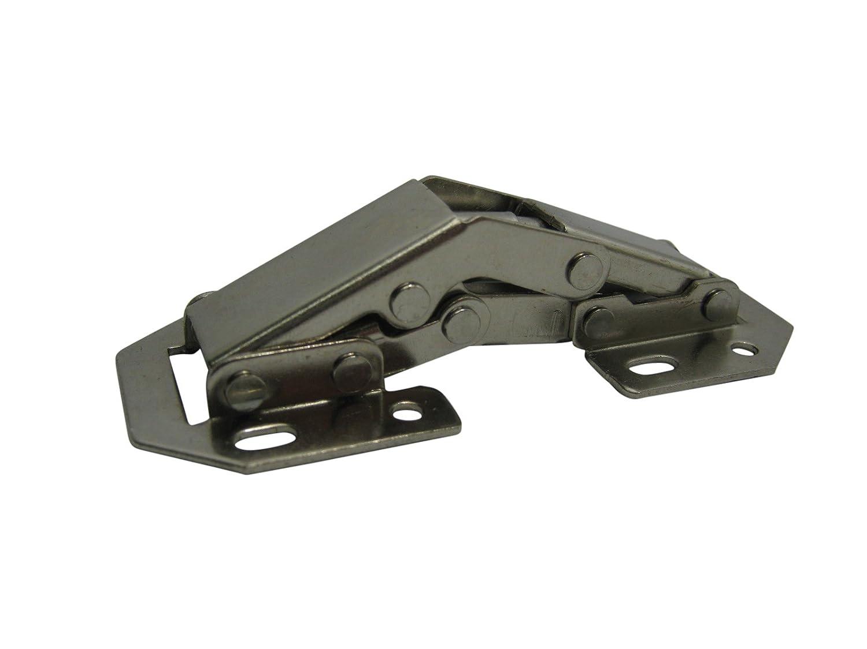 4 x Aufschraubscharnier Aufschraubscharniere Scharnier mit Feder Easy On 77mm Mini