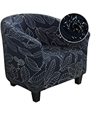 SearchI Club Chair Slipcover,Stretch Spandex Removable Geometric Pattern Armchair Covers, Tub Chair Covers Furniture Protector for Living Room Arm Chair Cover Geometric Couch Covers