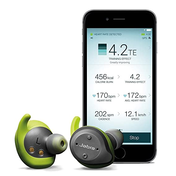 b966aea4a7b Jabra Elite Sport True Wireless Waterproof Fitness & Running Earbuds with  Heart Rate and Activity Tracker