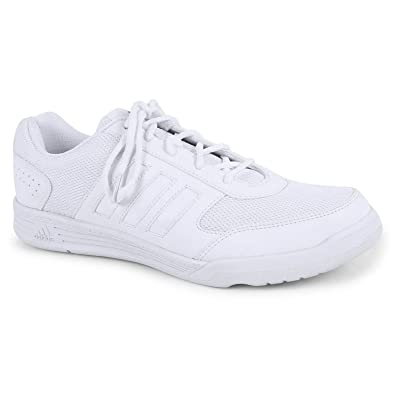 Adidas Men White School Shoes / Sports Shoes (UK/India Size 10)