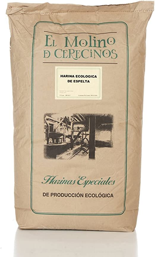 Harina de Espelta Ecológica blanca 25 kg: Amazon.es: Alimentación ...