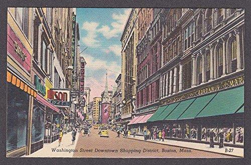 Loews Washington Street Downtown Shopping District Boston MA postcard - Downtown Ma