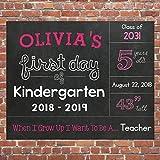 First Day of School Chalkboard Sign, Kindergarten