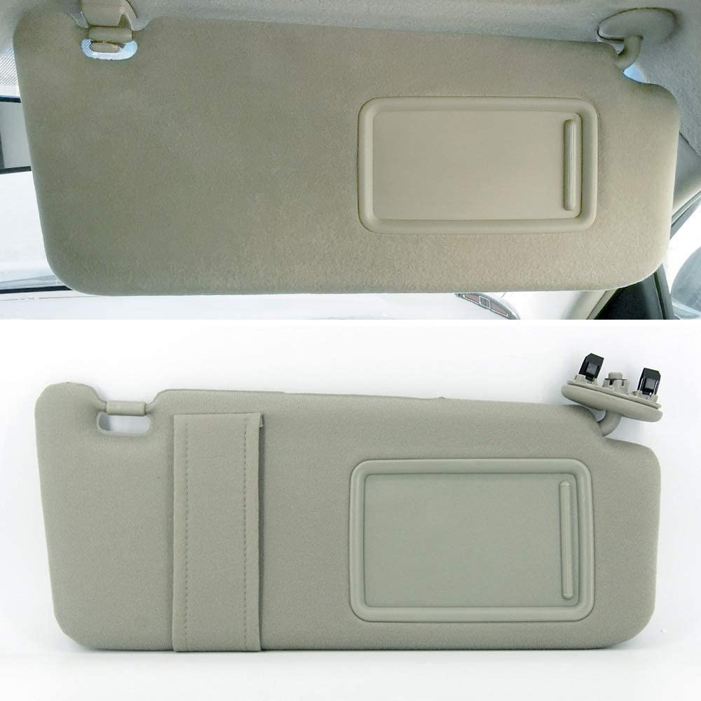 Dark Gray Sun Visor for Toyota Camry 2006 2007 2008 2009 2010 2011 Without Sunroof and Lights Right Passenger Side Replaces 74310-06750-B0 7431006750B0