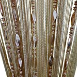 ZideTang Beaded Door Curtain Tassel Divider Color Champagne