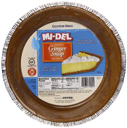 Mi-Del Ginger Snap Gluten Free Pie Crust, 7.1 Ounce (Mi Del Ginger Snaps)