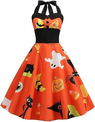 MOIKIA - Disfraz de Halloween para Mujer, con Raqueta, Calabaza ...