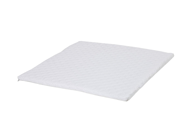 Hoppekids IDA Playpen Mattress with Flax Surface, Foam, White, 86 x 80 x 3 cm Mattress for MARIE playpen