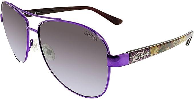 5d3f1c94ed Guess Aviator Sunglasses - GU7384 81B - Purple Grey at Amazon ...