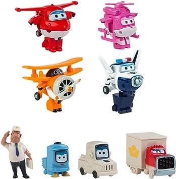 Super Wings Pack colección 4 transformables + 4 personajes extra (ColorBaby 43963): Amazon.es: Juguetes y juegos