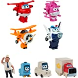 Super Wings Pack colección 4 transformables + 4 personajes extra (ColorBaby 43963)