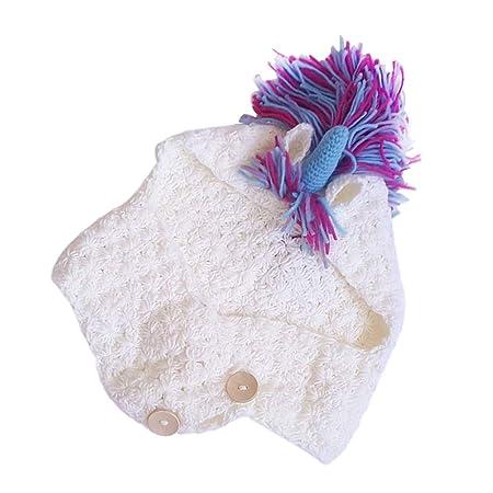 YeahiBaby Cappello Unicorno con Sciarpa Cappello all Uncinetto Unicorno  Cappelli Invernali per Bambini  Amazon.it  Giochi e giocattoli a83f5bea8c31