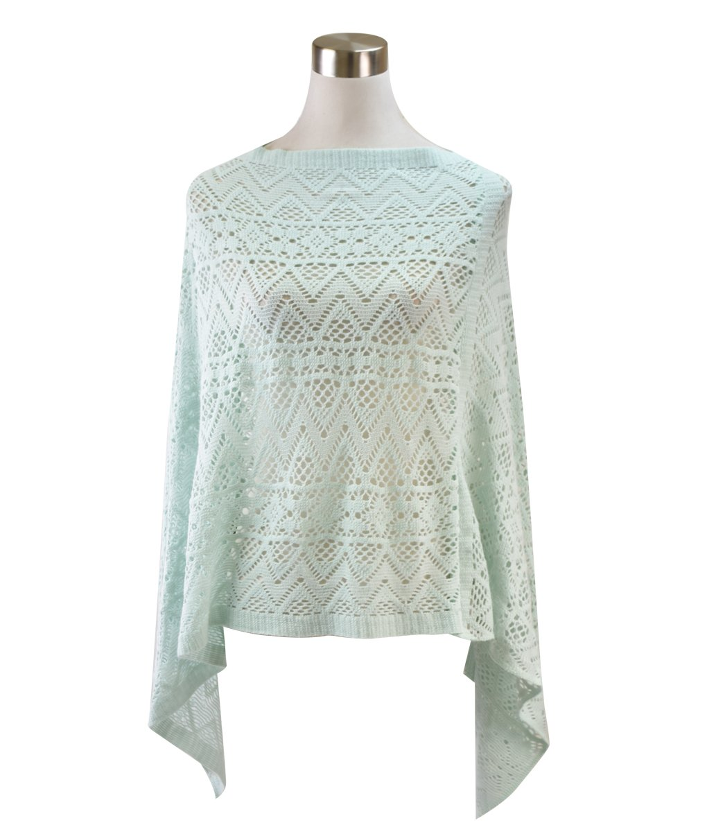 Le Nom Light Weight Knit Comfy Poncho (MINT)