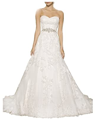 Vickyben Strapless A Line Wedding Dress 2029 Long Sleeveless Bridal Gown  Ivory 2