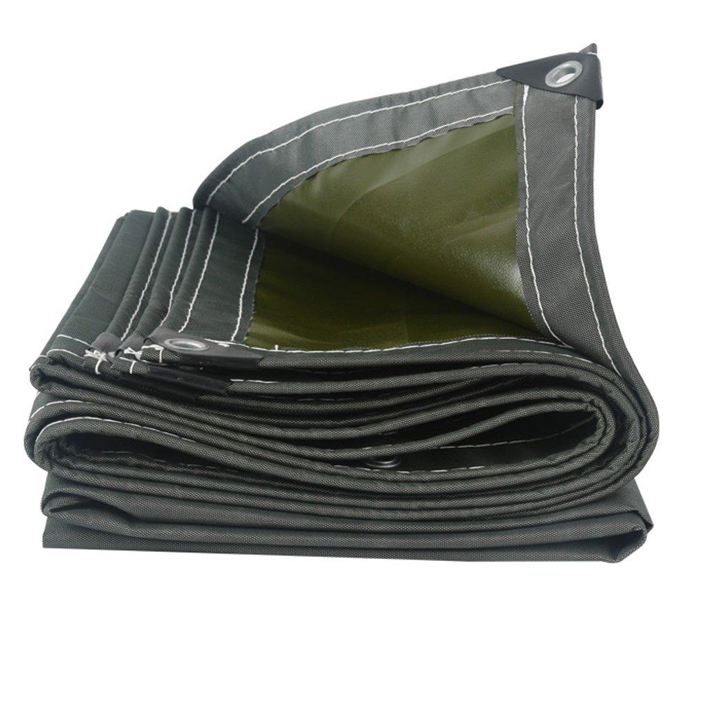 HGNA-Zeltplanen Zelt Zubehör Plane Garden Plane Blatt wasserdicht,grau 600g m²,100% wasserdicht und UV-geschützt Idee für Camping Wandern